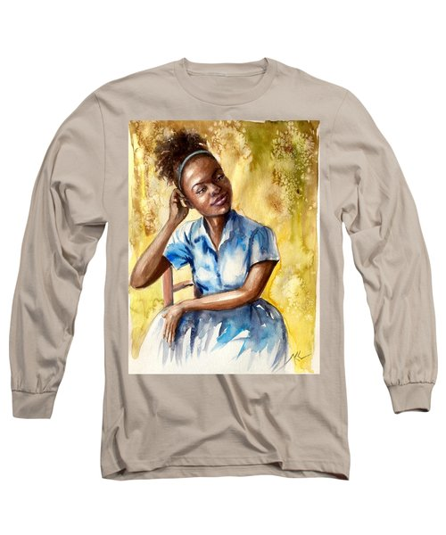 The Girl With The Blue Dress Long Sleeve T-Shirt