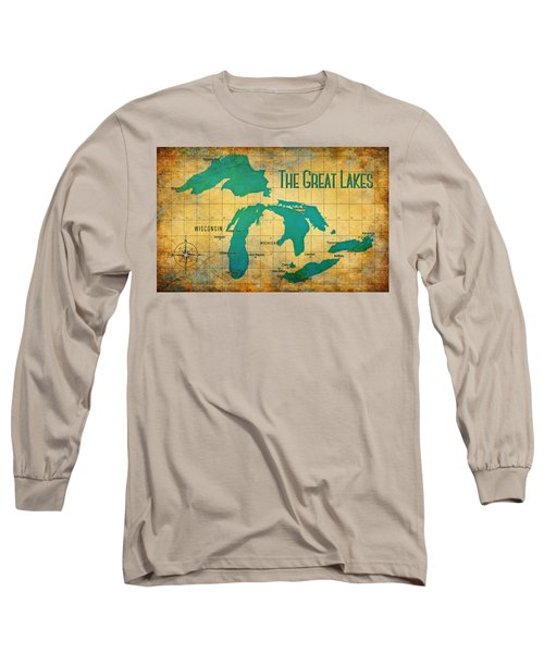 The Great Lakes Long Sleeve T-Shirt by Greg Sharpe