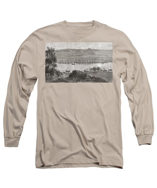 The Great Pyramids Of Giza, Egypt From Long Sleeve T-Shirt
