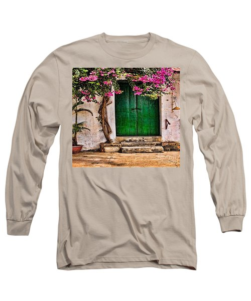 The Green Door Long Sleeve T-Shirt by Rod Jellison