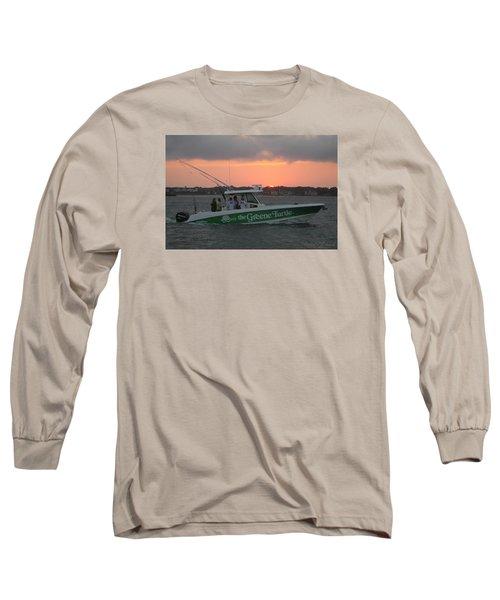 The Greene Turtle Power Boat Long Sleeve T-Shirt by Robert Banach