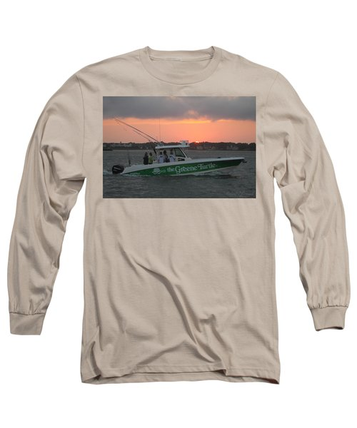 The Greene Turtle Power Boat Long Sleeve T-Shirt