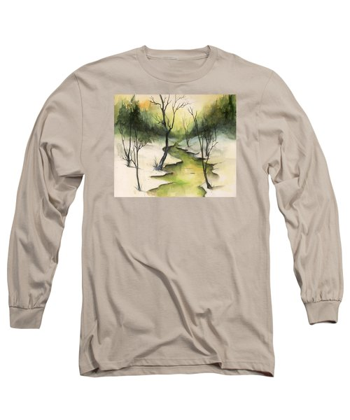 Long Sleeve T-Shirt featuring the painting The Greenwood by Terry Webb Harshman