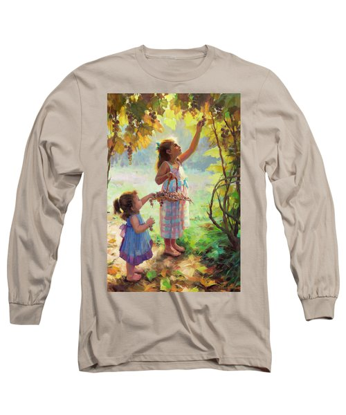 Long Sleeve T-Shirt featuring the painting The Harvesters by Steve Henderson