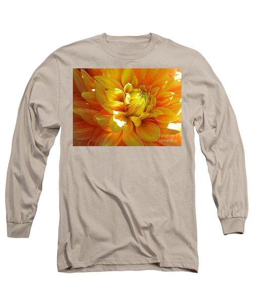 The Heart Of A Dahlia Long Sleeve T-Shirt