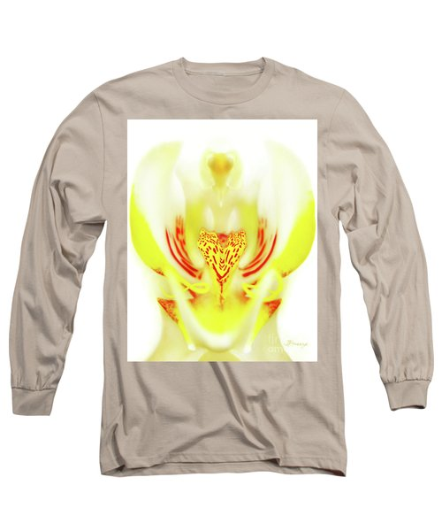 Long Sleeve T-Shirt featuring the photograph The Heart Of An Alien-orchid by Jennie Breeze