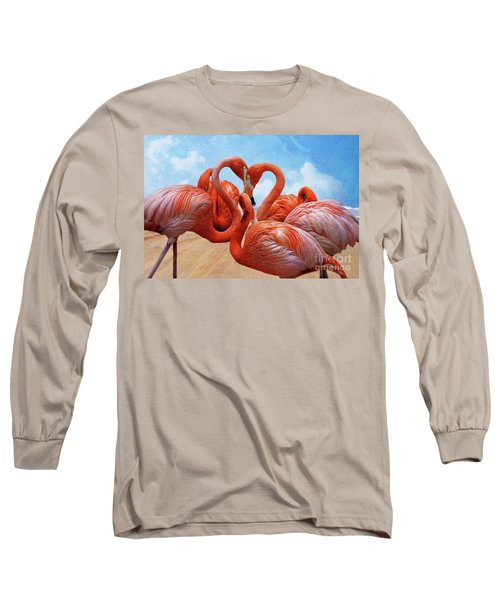 The Heart Of The Flamingos Long Sleeve T-Shirt