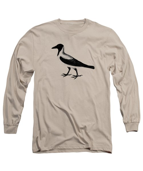 The Hooded Crow Long Sleeve T-Shirt by Mark Rogan