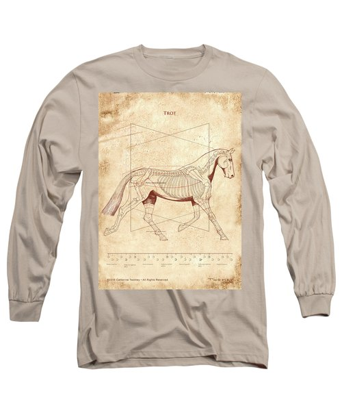 The Horse's Trot Revealed Long Sleeve T-Shirt by Catherine Twomey