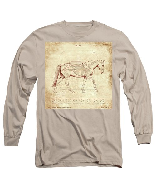 The Horse's Walk Revealed Long Sleeve T-Shirt by Catherine Twomey