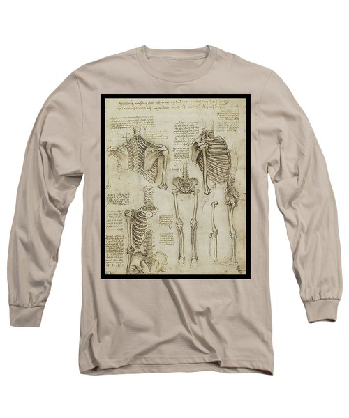 Long Sleeve T-Shirt featuring the painting The Human Ribcage by James Christopher Hill