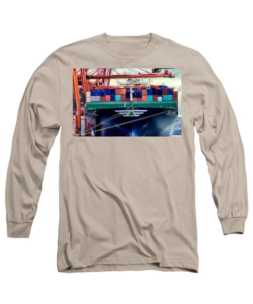 Long Sleeve T-Shirt featuring the photograph The Hyundai Faith Seattle Washington by Michael Rogers