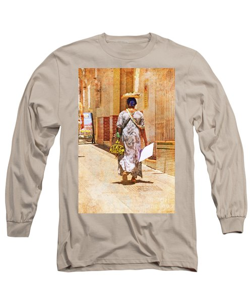 Long Sleeve T-Shirt featuring the photograph The Jewelry Seller - Malaga Spain by Mary Machare