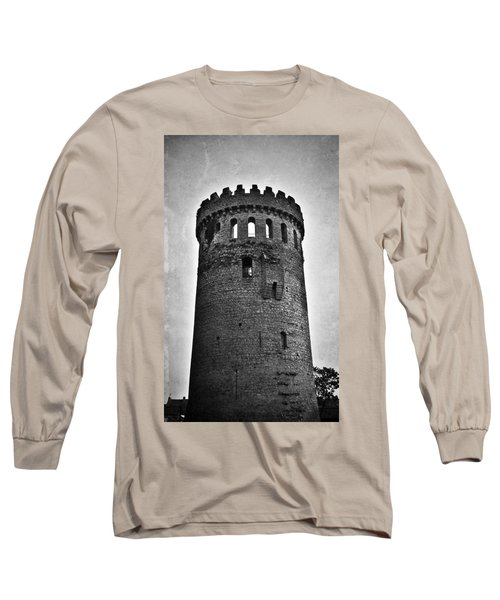 The Keep At Nenagh Castle In Nenagh Ireland Long Sleeve T-Shirt