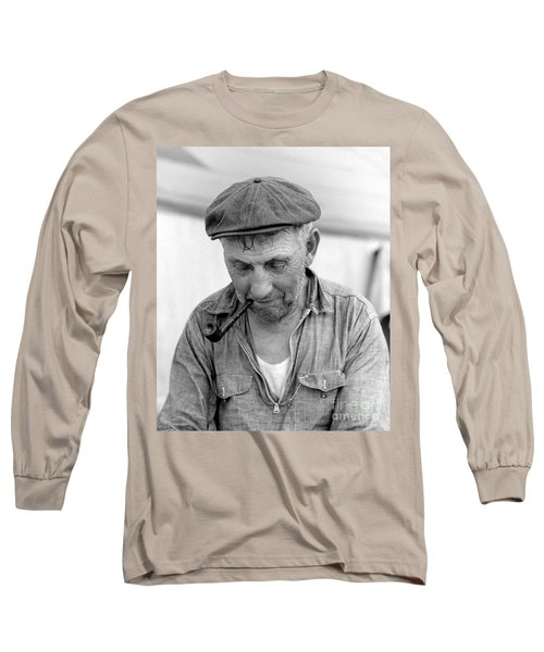 Long Sleeve T-Shirt featuring the photograph The Pipe Smoker by John Stephens