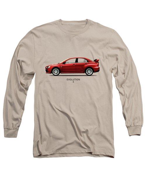 The Lancer Evolution X Long Sleeve T-Shirt by Mark Rogan