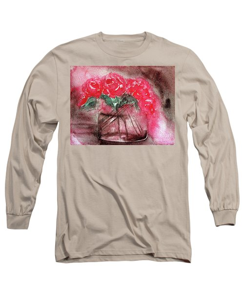 The Last Red Roses Long Sleeve T-Shirt by Jasna Dragun
