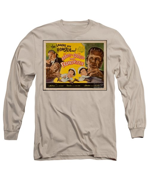 The Laughs Are Monsterous Abott An Costello Meet Frankenstein Classic Movie Poster Long Sleeve T-Shirt