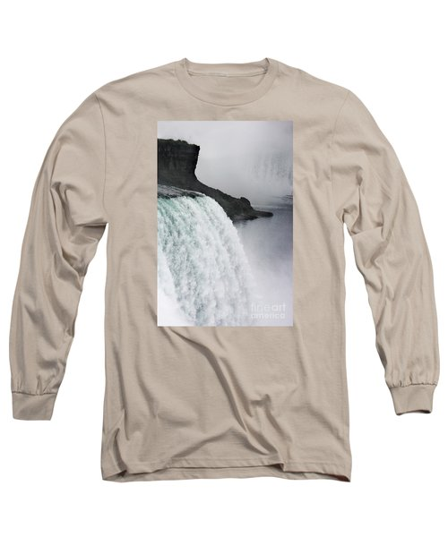 Long Sleeve T-Shirt featuring the photograph The Liquid Curtain by Dana DiPasquale