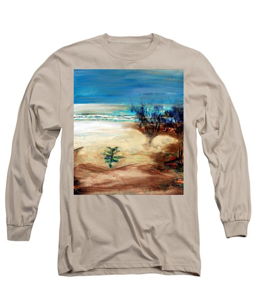 Long Sleeve T-Shirt featuring the painting The Little Pine Tree by Winsome Gunning