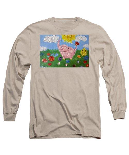 Little Pink Elephant Long Sleeve T-Shirt