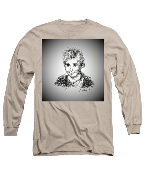 Long Sleeve T-Shirt featuring the drawing The Little Rapper by Denise Fulmer