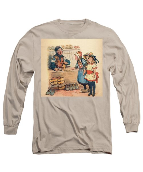 The Little Wooden Shoe Maker Long Sleeve T-Shirt by Reynold Jay
