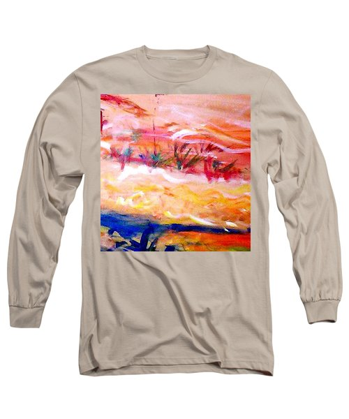 Long Sleeve T-Shirt featuring the painting The Living Dunes by Winsome Gunning