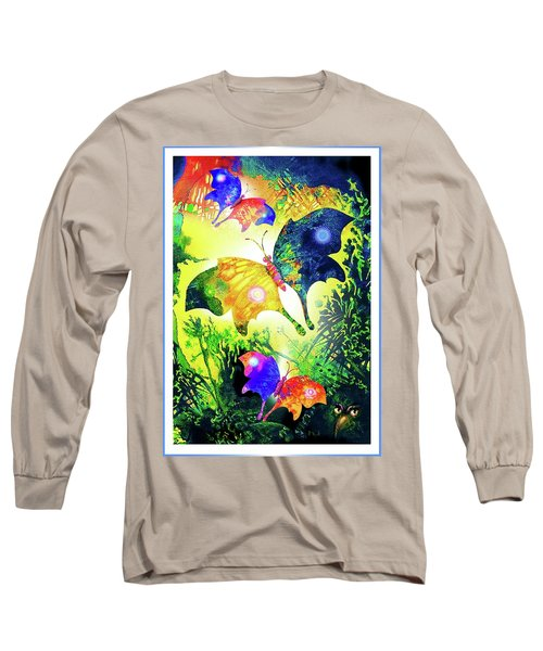 The Magic Of Butterflies Long Sleeve T-Shirt by Hartmut Jager