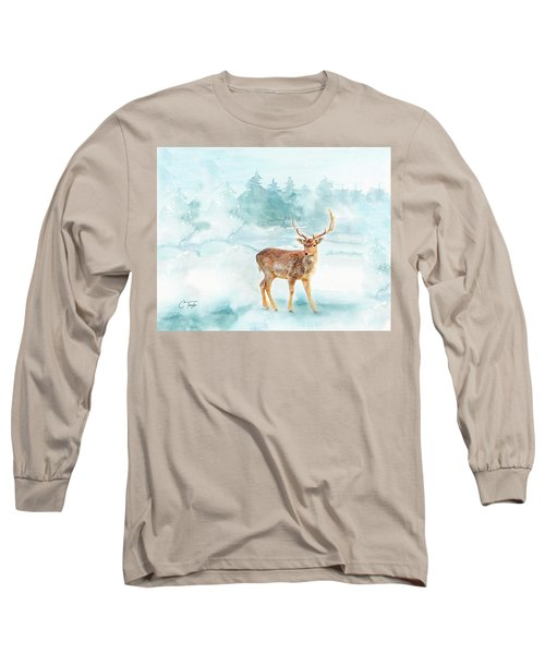 Long Sleeve T-Shirt featuring the painting The Magic Of Winter  by Colleen Taylor
