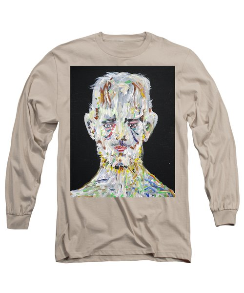 Long Sleeve T-Shirt featuring the painting The Man Who Tried To Become A Mountain by Fabrizio Cassetta