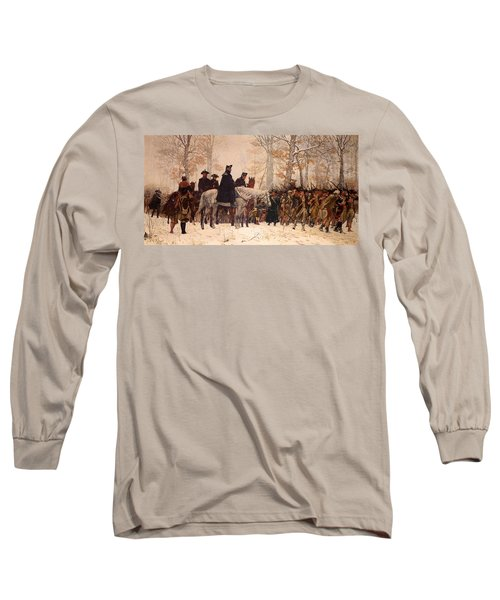 The March To Valley Forge Long Sleeve T-Shirt by Mountain Dreams