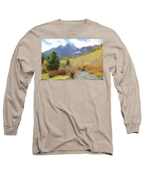 Long Sleeve T-Shirt featuring the photograph The Maroon Bells Reimagined 3 by Eric Glaser