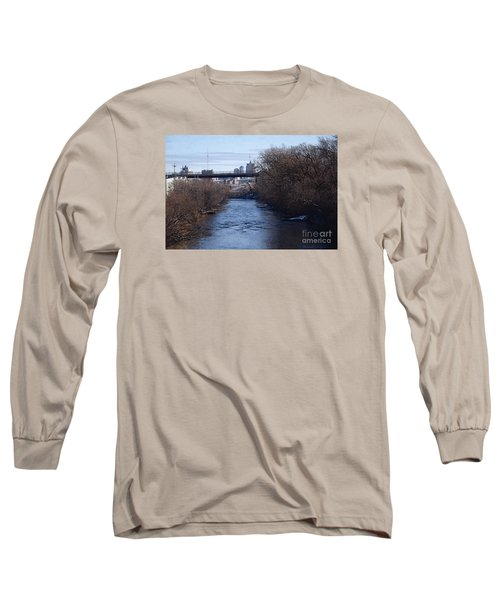 Long Sleeve T-Shirt featuring the digital art The Menomonee Near 33rd And Canal Streets by David Blank