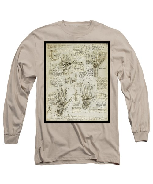 Long Sleeve T-Shirt featuring the painting The Metacarpal by James Christopher Hill