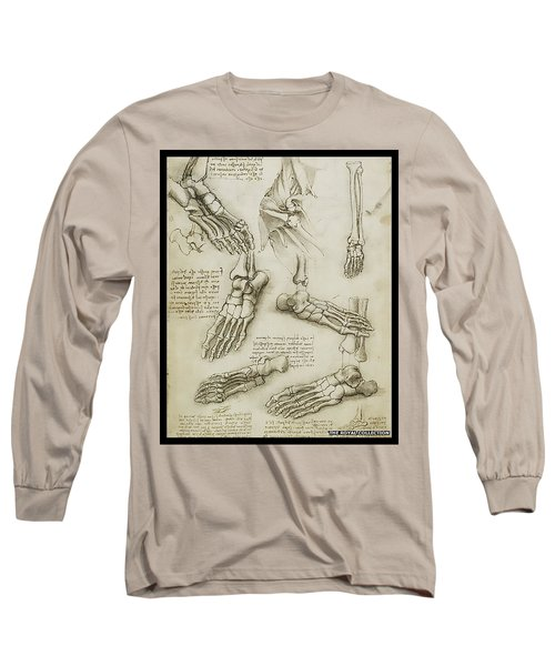 Long Sleeve T-Shirt featuring the painting The Metatarsal by James Christopher Hill