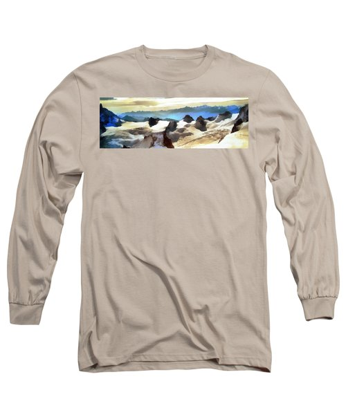 The Mountain Paint Long Sleeve T-Shirt by Odon Czintos