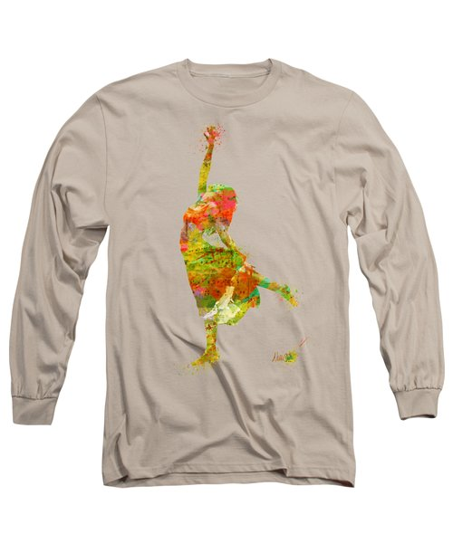 The Music Rushing Through Me Long Sleeve T-Shirt by Nikki Smith