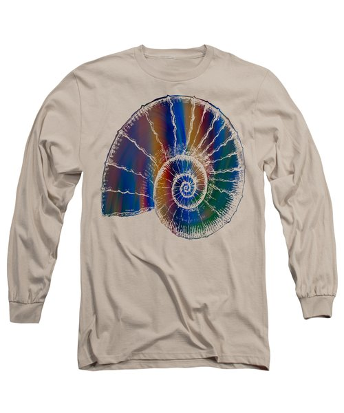 The Nautilus Shell Transparent 2 Long Sleeve T-Shirt