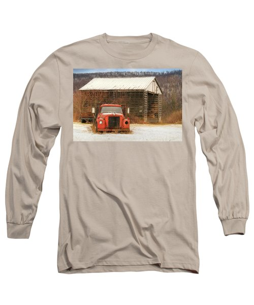 Long Sleeve T-Shirt featuring the photograph The Old Lumber Truck by Lori Deiter
