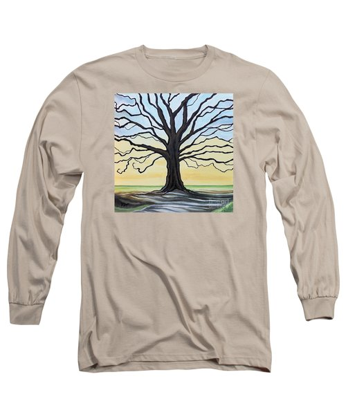 The Stained Old Oak Tree Long Sleeve T-Shirt by Elizabeth Robinette Tyndall