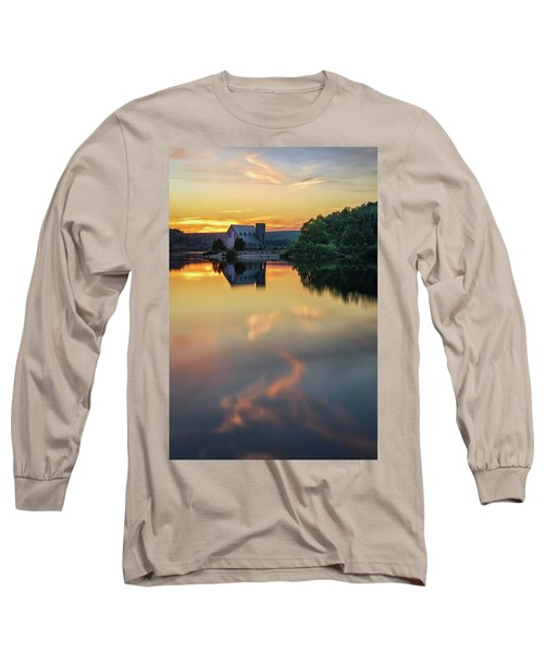 The Old Stone Church At Sunset Long Sleeve T-Shirt