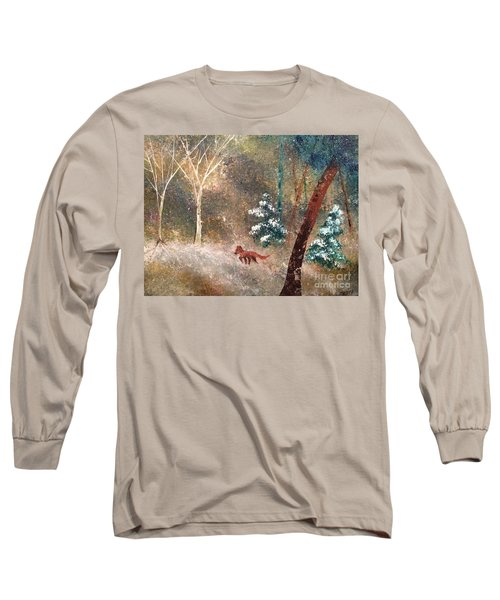 Long Sleeve T-Shirt featuring the painting The Onion Snow by Denise Tomasura