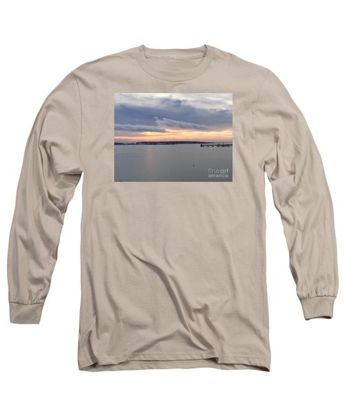 The Opalescent Sunrise Is Unfurled Long Sleeve T-Shirt by Patricia E Sundik