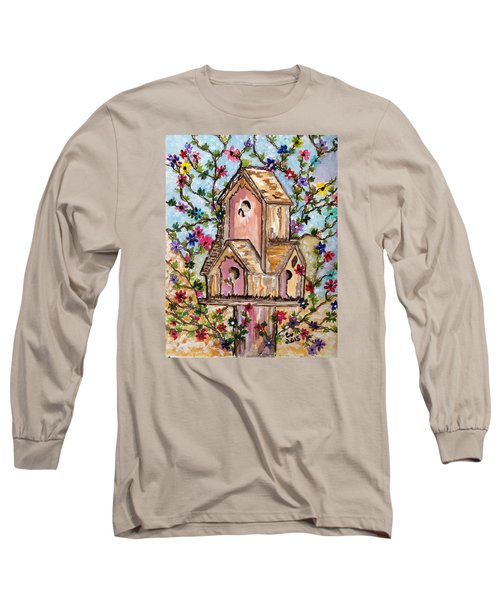 Long Sleeve T-Shirt featuring the painting The Opening Of Spring by Connie Valasco