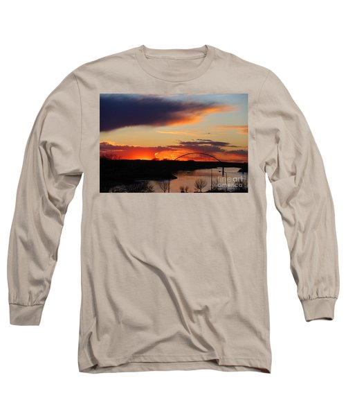 The Other Side Of The Bridge  Long Sleeve T-Shirt by Yumi Johnson