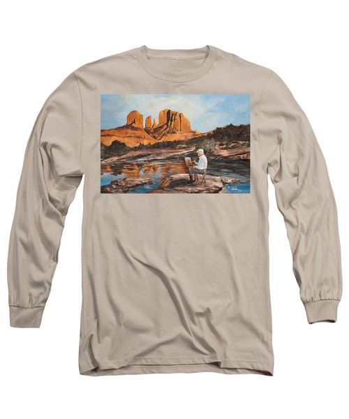 The Painter Woods Long Sleeve T-Shirt by Alan Lakin
