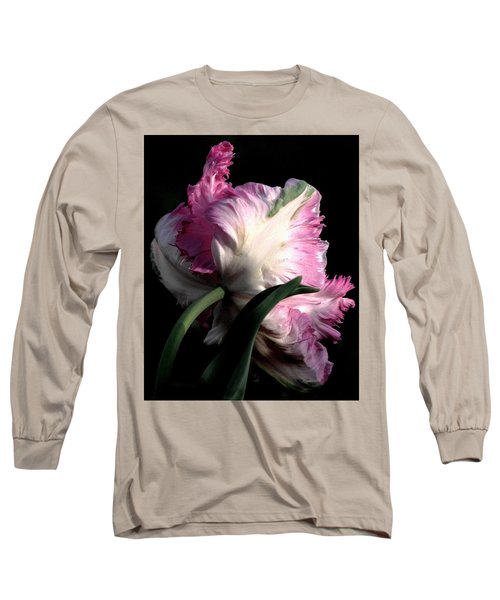 The Parrot Tulip Queen Of Spring Long Sleeve T-Shirt