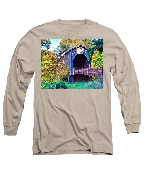 The Pass Creek Covered Brkidge Long Sleeve T-Shirt by Ansel Price