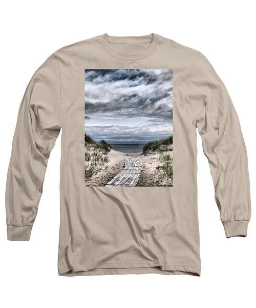 The Path To The Beach Long Sleeve T-Shirt by Jouko Lehto